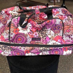 Vera Bradley floral wheeled duffel bag